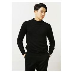 HOTBOOM - Mock-Neck Sweater