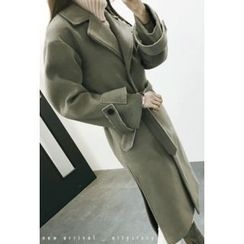 ATTYSTORY - Belted Double-Breasted Coat