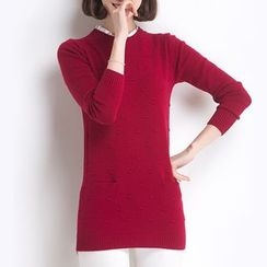 Lovebirds - Paneled Long Sweater