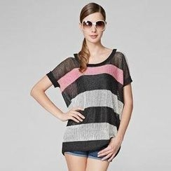 O.SA - Dolman-Sleeve Striped Knit Top