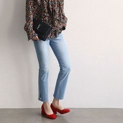 NANING9 - Washed Straight-Cut Jeans