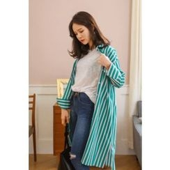 PPGIRL - Striped Long Shirt