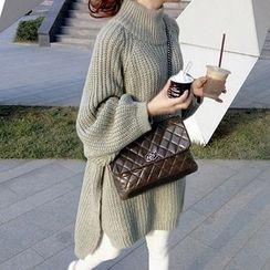 Fashion Street - 高領側開衩粗織毛衣