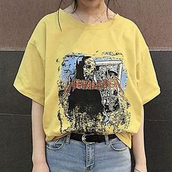 Cloud Nine - Print Short-Sleeve T-shirt