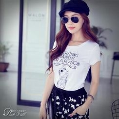 Dabuwawa - Short-Sleeve Rhinestone T-Shirt