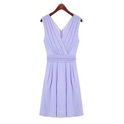 LIVA GIRL - Sleeveless V-Neck A-Line Dress