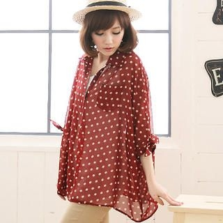 CatWorld - Dotted Oversized Shirt