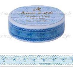 Aimez le style - Aimez le style Masking Tape Primaute Regular Floral Frill Blue