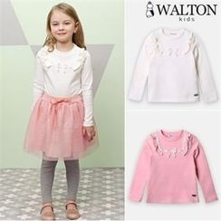 WALTON kids - Girls Lace Frill-Trim Top