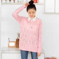 59 Seconds - Mélange Cable Knit Sweater