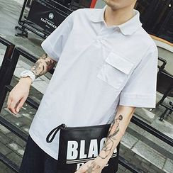 Streetstar - Pocketed Short Sleeve Shirt