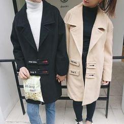 Evolu Fashion - Couple Matching Embroidered Coat