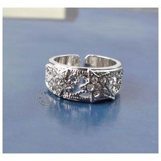 Trend Cool - Rhinestone Star Ring