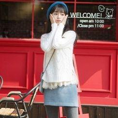 Wind Town - Open Knit Sweater