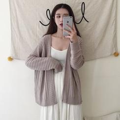 Dute - 羅紋開胸開衫