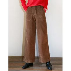 FROMBEGINNING - Corduroy Wide-Leg Pants