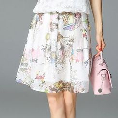 Seagrass - Printed A-Line Skirt