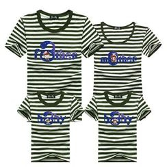 Panna Cotta - Family Matching Striped Short-Sleeve T-Shirt