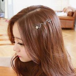 Miss Floral - Rhinestone Hair Pin