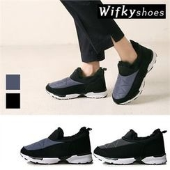Wifky - Faux-Fur Lined Padded Slip-Ons