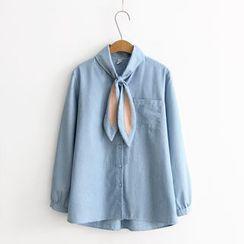 Moricode - Rabbit Ear Pinstriped Shirt