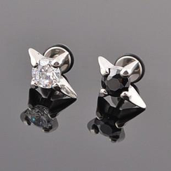 Trend Cool - Titanium Rhinestone Earrings