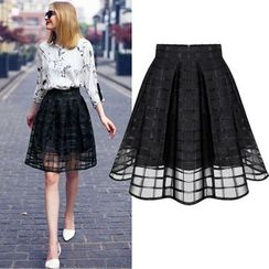 Maeve - Pleated Check Skirt