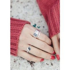 Chlo.D.Manon - Tiered Wide Silver Ring