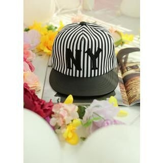 Bongjashop - Striped Lettering Cap