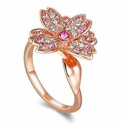 Italina - Swarovski Elements Floral Ring