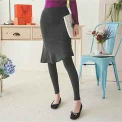 ode' - Inset Skirt Leggings