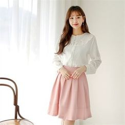 Styleberry - Laced-Collar Blouse