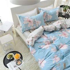 Petrie - Bedding Set: Floral Print Duvet Cover + Bed Sheet + Pillowcase