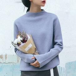 Cloud Nine - High-Neck Boxy Sweater
