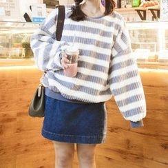 BZY - 条纹粗针织毛衣