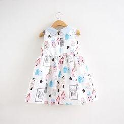 Cuckoo - Kids Printed Sleeveless Dress
