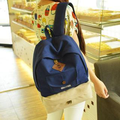Miss Sweety - Two-Tone Pocket Canvas Backpack