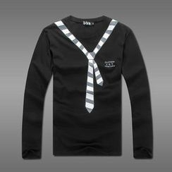 MR.PARK - Tie-Print Long-Sleeve T-Shirt
