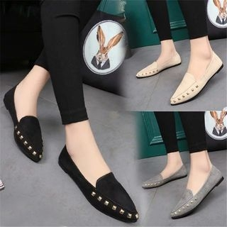 YIVIS - Studded Pointy Flats