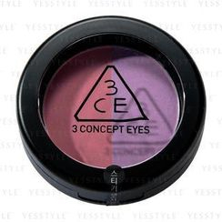 3 CONCEPT EYES - Duo Color Face Blush (Crème De Violette)