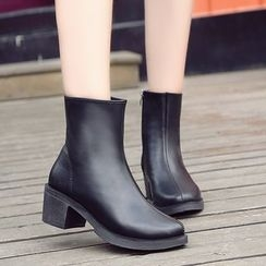 Chryse - Block Heel Short Boots