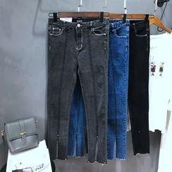 YENSI - Slit Boot Cut Jeans