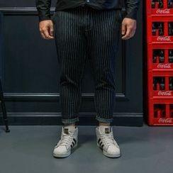 Wayne - 条纹修身裤