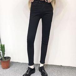 MePanda - High-Waist Skinny Jeans