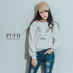PUFII - Fleece-Lined Rabbit Printed Tee