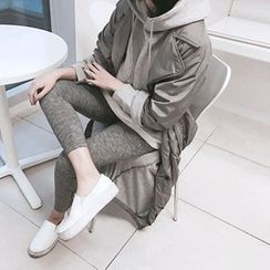MARSHMALLOW - Dual-Breasted Maxi Trench Jacket
