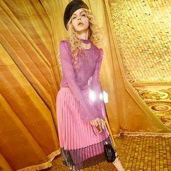 妖精的口袋 - 饰褶中长裙