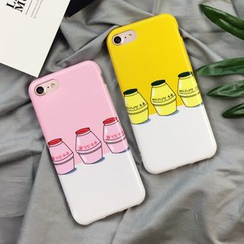 Homap - Milk Bottle Print Mobile Case - iPhone 7/ 7plus/ 6s / 6s Plus