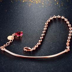 Zundiao - Sterling Silver Crystal Drop Bracelet