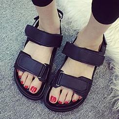 Pixie Pair - Velcro Strap Platform Sandals